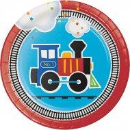 8 Petites Assiettes Petit Train