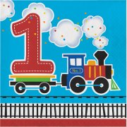 16 Serviettes Petit Train N°1