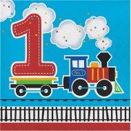 16 Serviettes Petit Train N°1