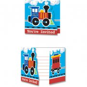 8 invitations Petit Train