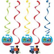 5 Guirlandes Spirales Petit Train