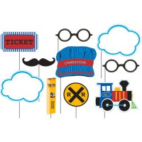 Contient : 1 x Kit 10 Photo Booth Petit Train
