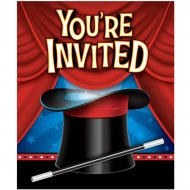 8 invitations Magie