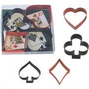 4 Emporte-pièces Poker Magie