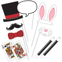 Contient : 1 x Kit 10 Photo Booth Magic Party