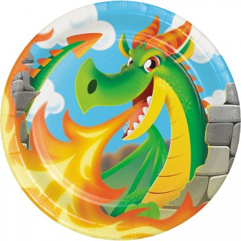 8 Assiettes Dragon