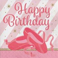 Contient : 1 x 16 Serviettes Happy Birthday Danseuse Etoile