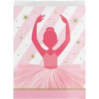 Contient : 1 x 10 Pochettes Cadeaux Danseuse Etoile - Papier