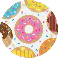 Contient : 1 x 8 Assiettes Donuts Party