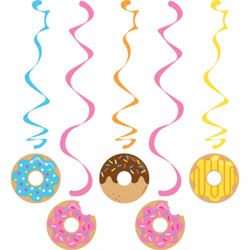 5 Guirlandes Spirales Donuts Party