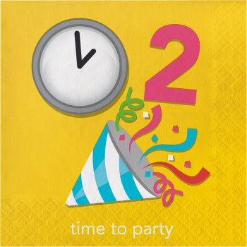 """16 Serviettes rébus """"Time to Party"""""""