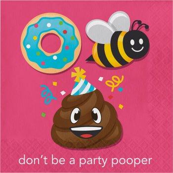 """16 Serviettes rébus """"Don t be a Party pooper"""""""