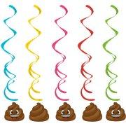 5 Guirlandes Spirales Emoji Caca