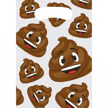 8 Pochettes Cadeaux Emoji Caca