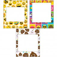 3 Cadres Photo Emoji Crazy (35 cm)