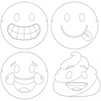 12 Masques à Colorier Emoji Crazy