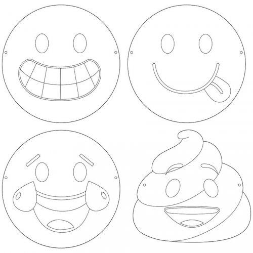 12 Masques à Colorier Emoji Crazy