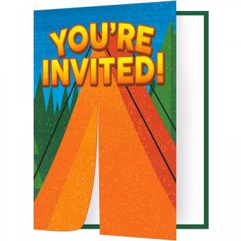 8 invitations Feu de Camp