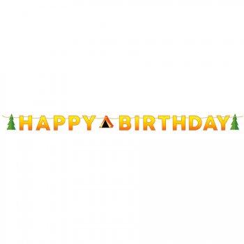 Guirlande Happy Birthday Feu de Camp (1,67 m)