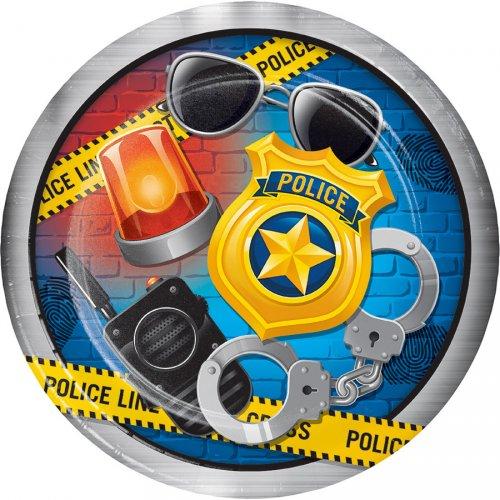 8 Assiettes Police Patrouille