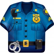 8 Grandes Assiettes Police Patrouille