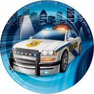 8 Petites Assiettes Police Patrouille