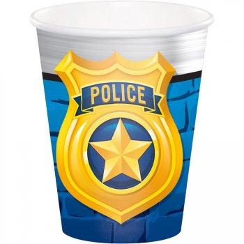 8 Gobelets Police Patrouille
