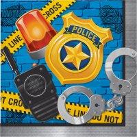 Contient : 1 x 16 Serviettes Police Patrouille