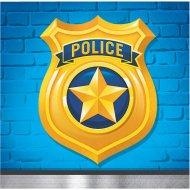16 Petites Serviettes Police Patrouille