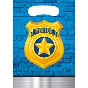 8 Pochettes Cadeaux Police Patrouille