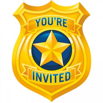 8 invitations Police Patrouille