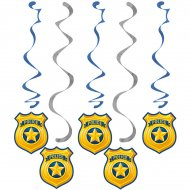 5 Guirlandes Spirales Police Patrouille