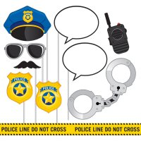 Contient : 1 x Kit 10 Photo Booth Police Patrouille