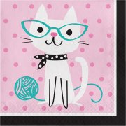 16 Serviettes Chat Chic