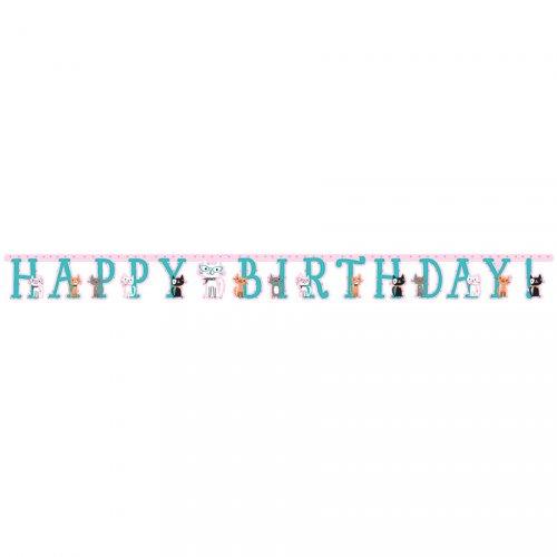 Guirlande Happy Birthday Chat Chic (3 m)
