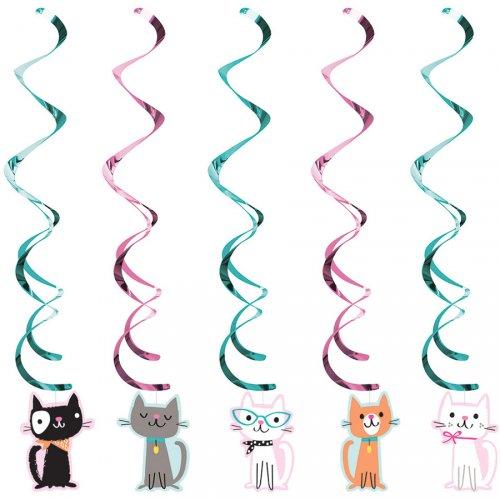 5 Guirlandes Spirales Chat Chic