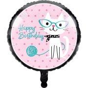Ballon Gonflé à l'Hélium Chat Chic