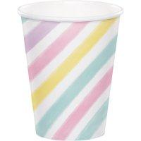 Contient : 1 x 8 Gobelets Licorne Rainbow Pastel