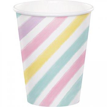 8 Gobelets Licorne Rainbow Pastel