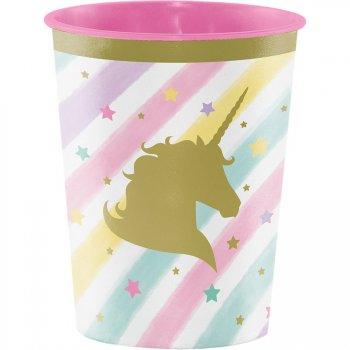 Grand Gobelet Licorne Rainbow Pastel (47 cl) - Plastique