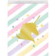 10 Pochettes Cadeaux Licorne Rainbow Pastel