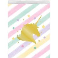Contient : 1 x 10 Pochettes Cadeaux Licorne Rainbow Pastel