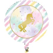 Ballon à plat Licorne Rainbow Pastel