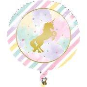 Ballon Gonflé à l'Hélium Licorne Rainbow Pastel