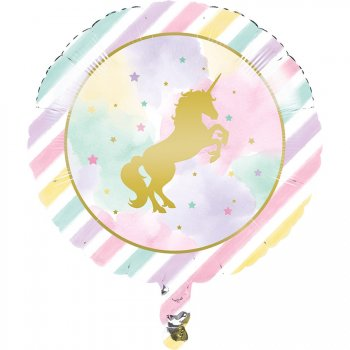 Ballon Hélium Licorne Rainbow Pastel