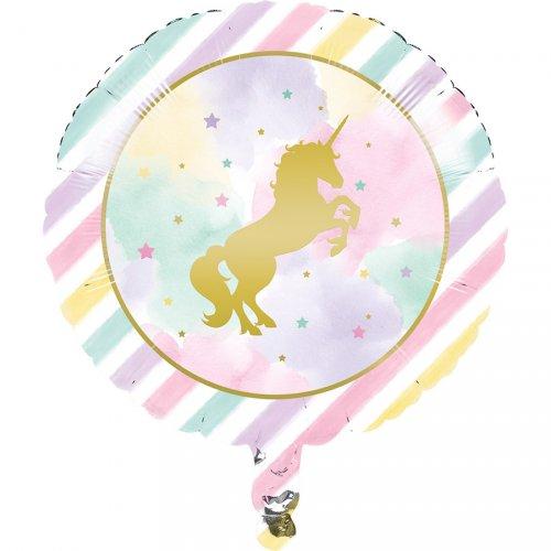 Ballon Gonflé à l Hélium Licorne Rainbow Pastel