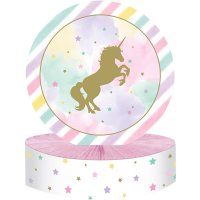 Contient : 1 x Centre de table Licorne Rainbow Pastel