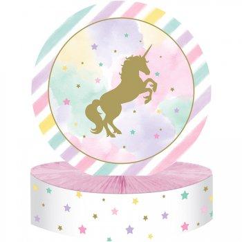 Centre de table Licorne Rainbow Pastel