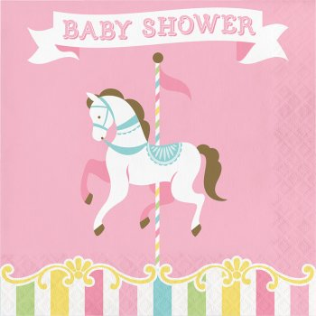 16 Serviettes Baby Shower Manège