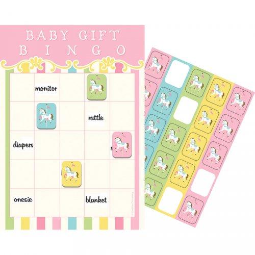 Jeu Bingo Baby Shower Manège